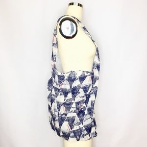 Free People Blue Triangle Reusable Shopping Tote